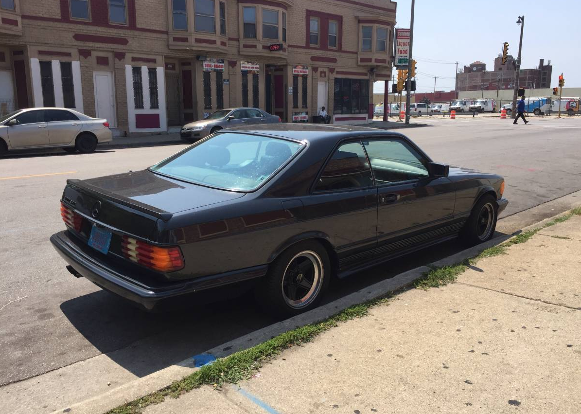 dirtyoldcars.com 1985 Mercedes 500SEC Found in Milwaukee 10