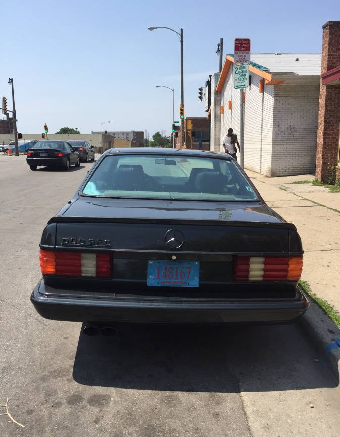 dirtyoldcars.com 1985 Mercedes 500SEC Found in Milwaukee 8