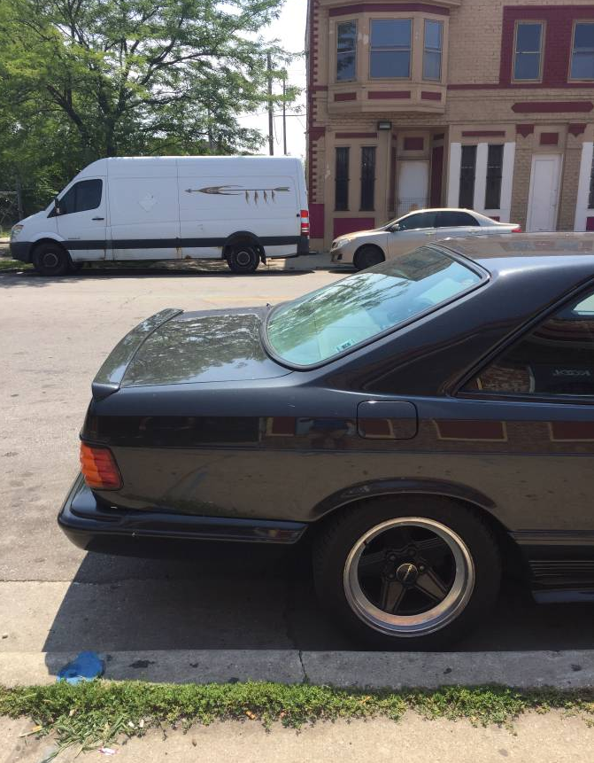 dirtyoldcars.com 1985 Mercedes 500SEC Found in Milwaukee 6