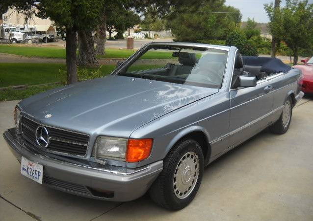 dirtyoldcars.com   1986 Mercedes 560SEC Convertible Straman Conversion Found in Utah   4