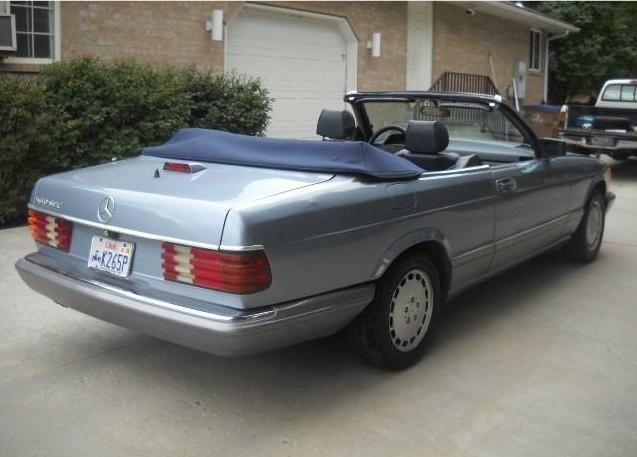 dirtyoldcars.com   1986 Mercedes 560SEC Convertible Straman Conversion Found in Utah   2