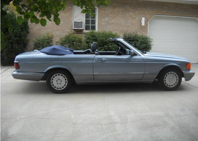 dirtyoldcars.com   1986 Mercedes 560SEC Convertible Straman Conversion Found in Utah   1