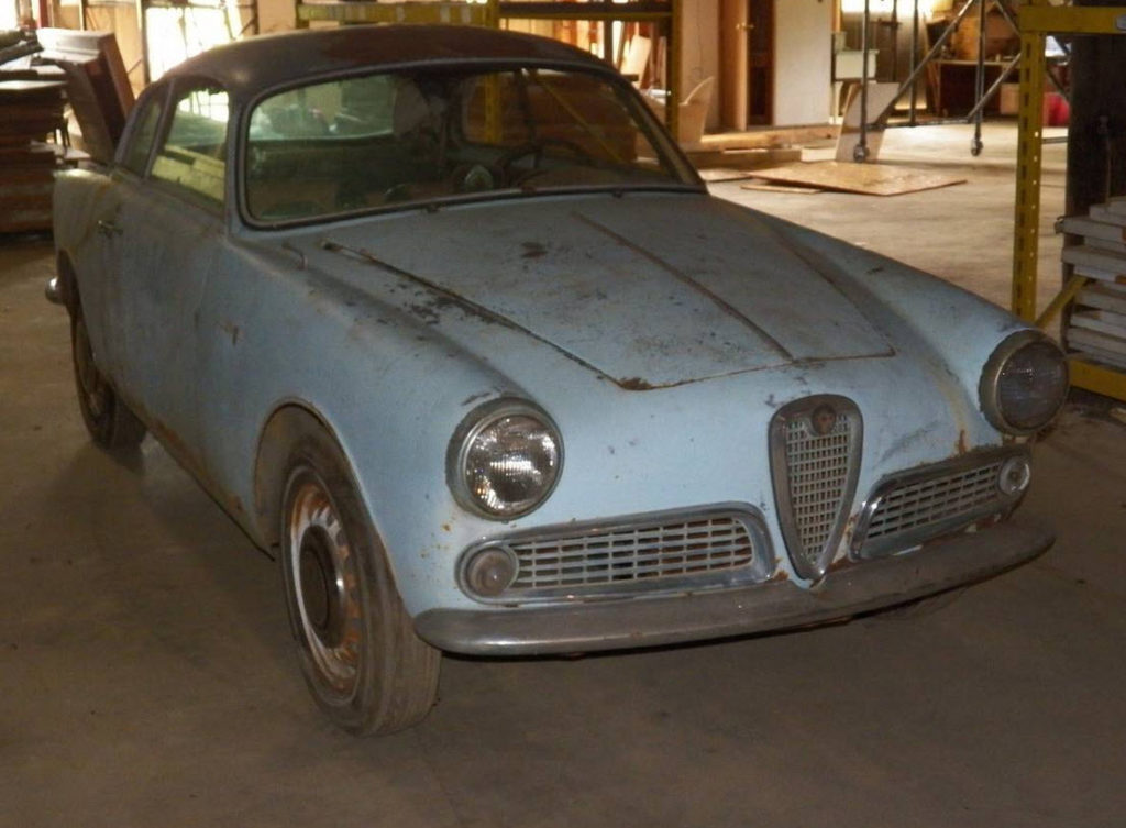 dirtyoldcars.com  1961 Alfa Romeo Giulietta Sprint Found in Tennessee   6