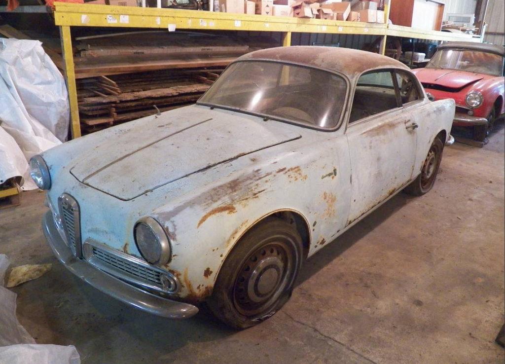 dirtyoldcars.com  1961 Alfa Romeo Giulietta Sprint Found in Tennessee   3