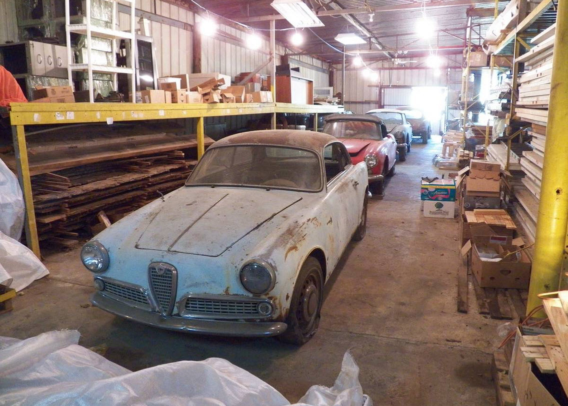 dirtyoldcars.com 1961 Alfa Romeo Giulietta Sprint Found in Tennessee 5