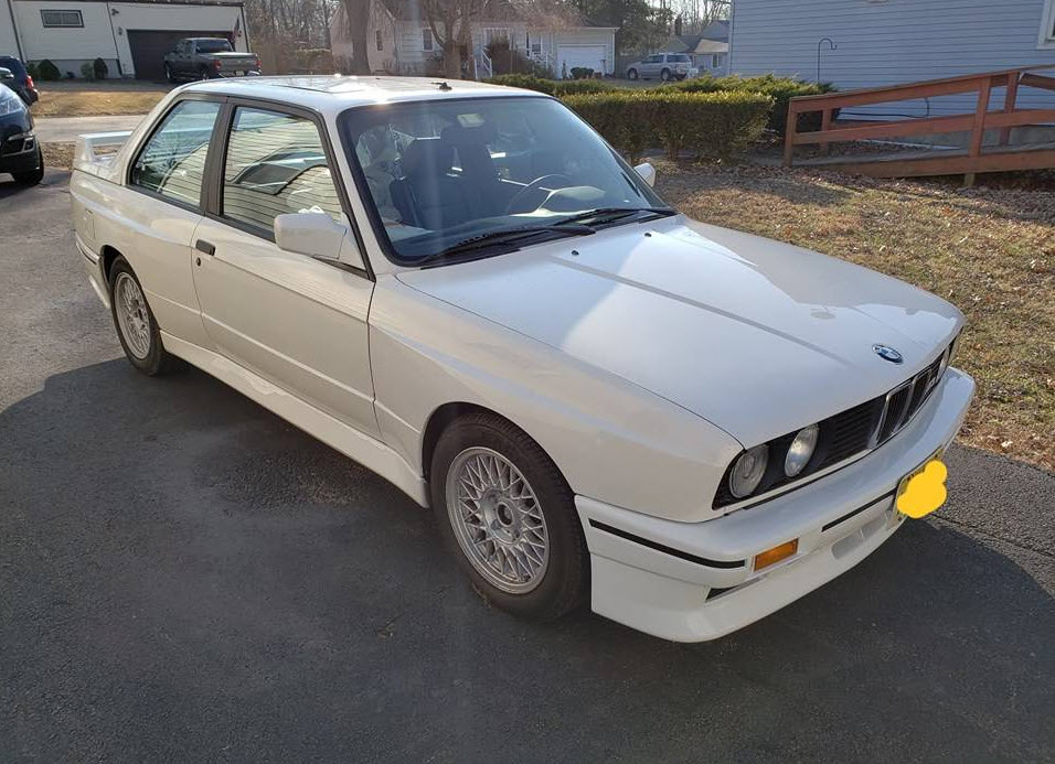 dirtyoldcars.com  bmw e30 m3 white fort wayne new jersey  2