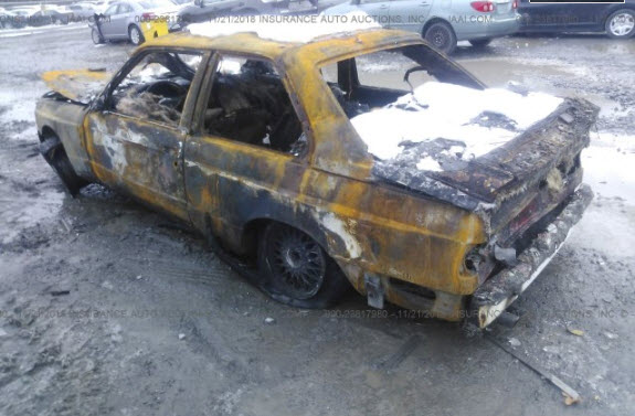 dirtyoldcars.com 1988 BMW M3 E30 Fire Damage 3