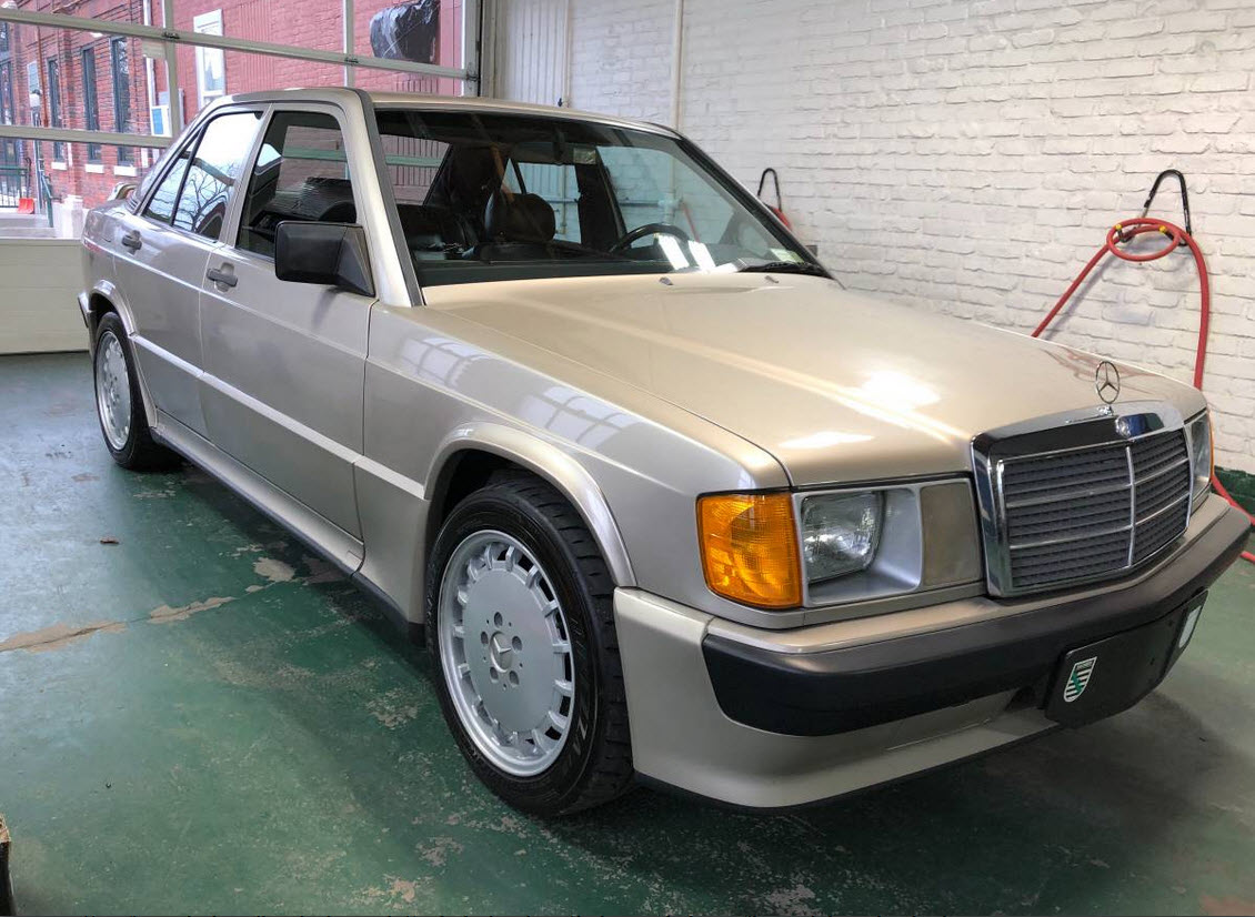 dirtyoldcars.com Mercedes 190e Cosworth 2.3-16 new york champagne 5