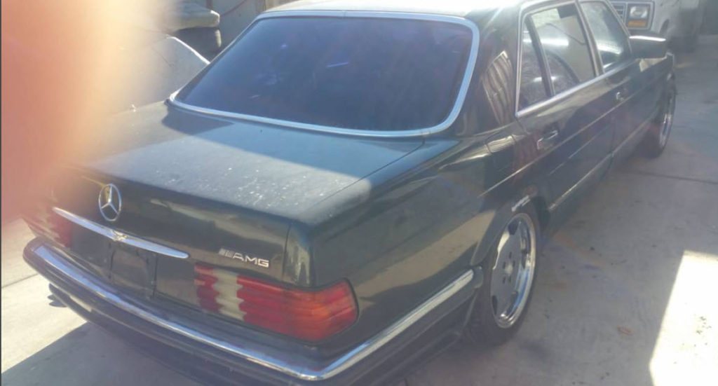 dirtyoldcars.com Mercedes 5000SEL Gemballa Found in Las Vegas 1