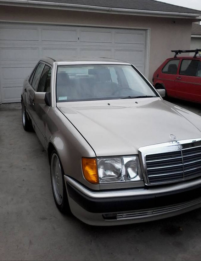 dirtyoldcars.com 1992 Mercedes 500E w124 Found in Los Angeles 8