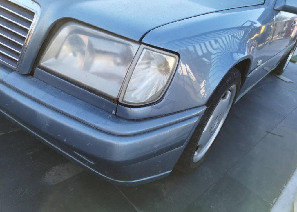 dirtyoldcars.com  500E Tribute 1986 300E AMG body kit 500e Flares  Berkeley  6