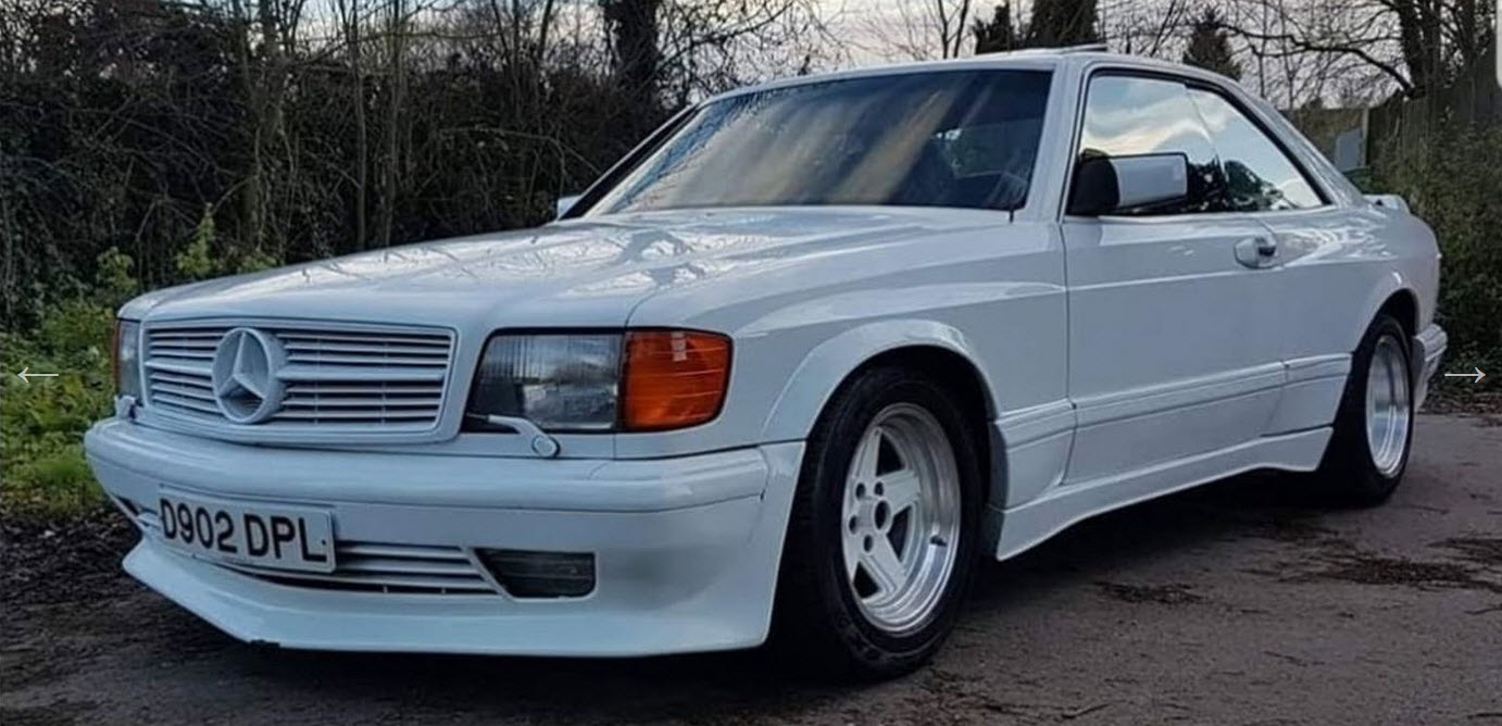 dirtyoldcars.com Mercedes 6.0 AMG Widebody white coventry england 3