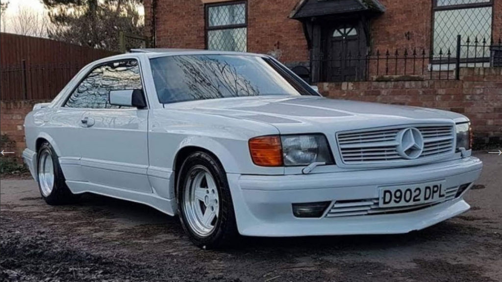 dirtyoldcars.com Mercedes 6.0 AMG Widebody white coventry england 1