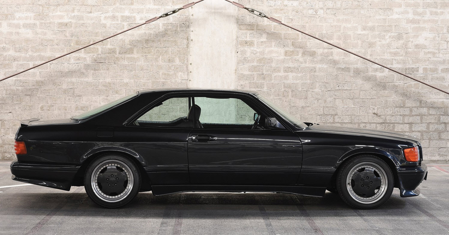 dirtyoldcars.com 1989 Mercedes 560 SEC AMG 6.0 Wide Body For Sothebys Auction Amelia Island 1