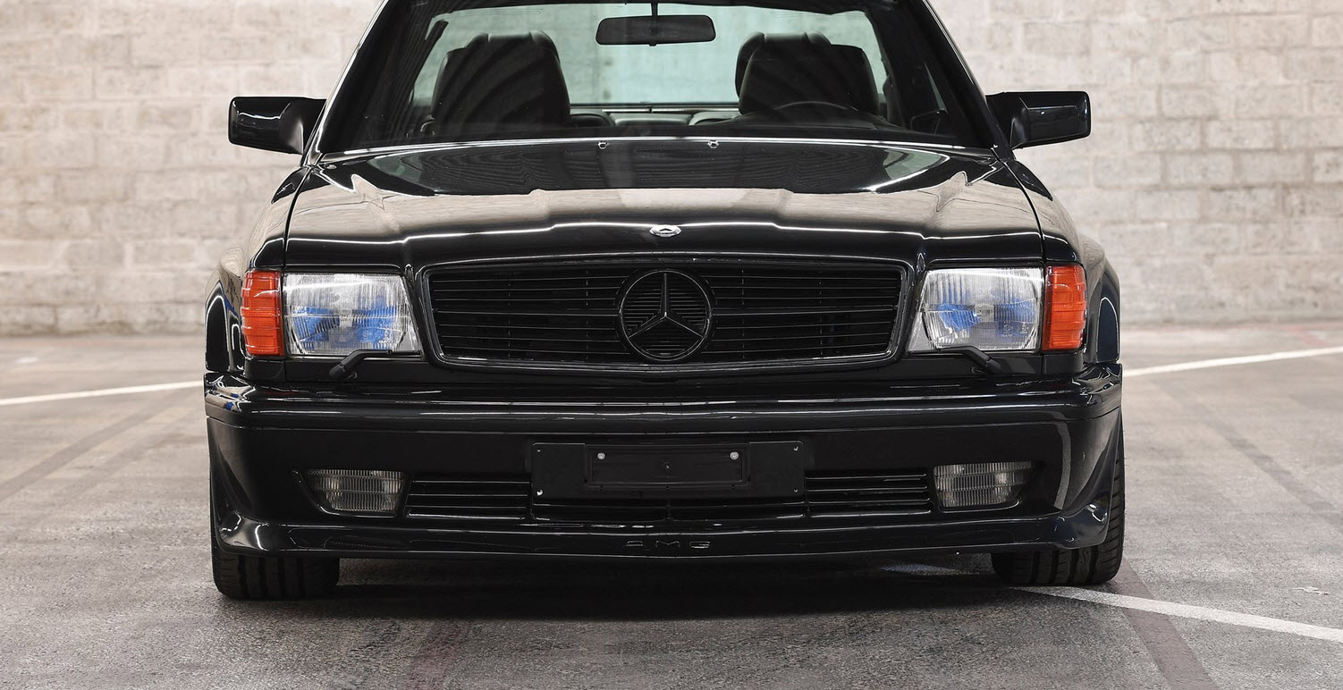 dirtyoldcars.com 1989 Mercedes 560 SEC AMG 6.0 Wide Body For Sothebys Auction Amelia Island 7