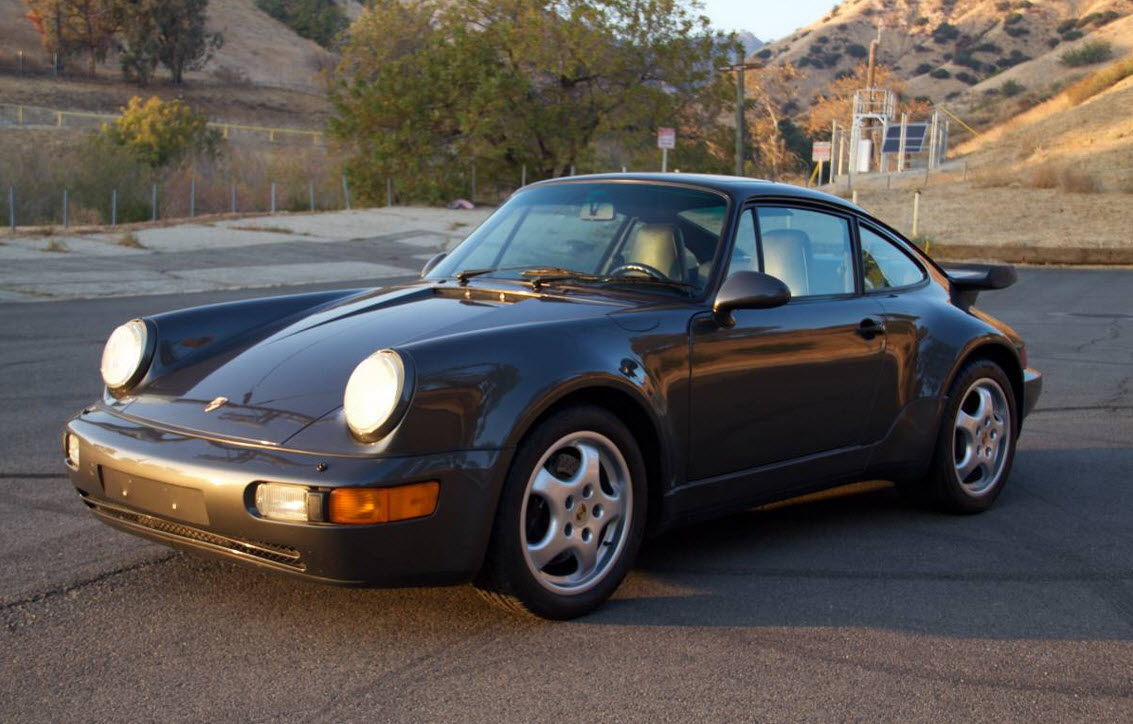 dirtyoldcars.com 1991 Porsche 964 Turbo Found in Tarzana 911 Turbo Slate Grey California 8