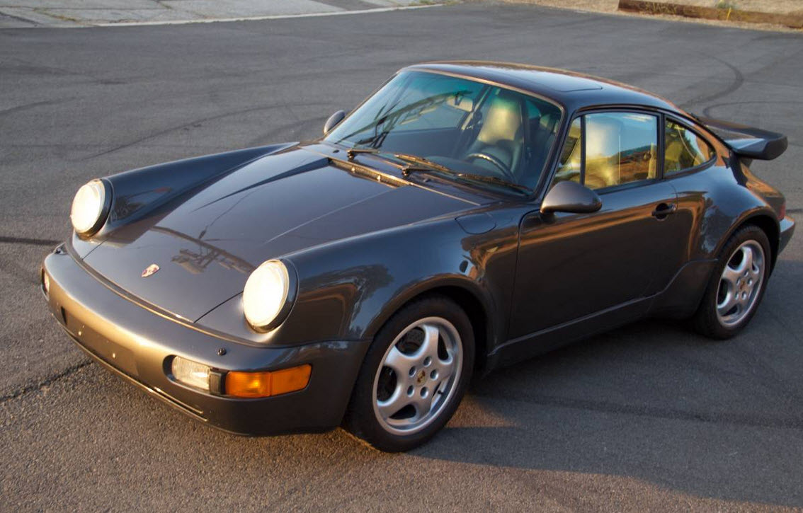 dirtyoldcars.com 1991 Porsche 964 Turbo Found in Tarzana 911 Turbo Slate Grey California 5