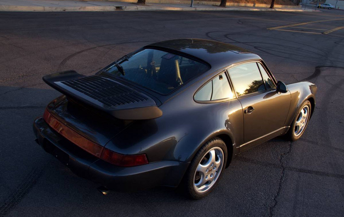 dirtyoldcars.com 1991 Porsche 964 Turbo Found in Tarzana 911 Turbo Slate Grey California 3