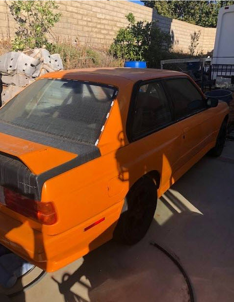 dirtyoldcars.com  1988 BMW E30 M3 Shell Orange  2