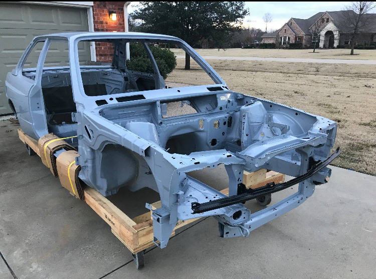 dirtyoldcars.com  Unused bmw e30 m3 factory shell  texas  3