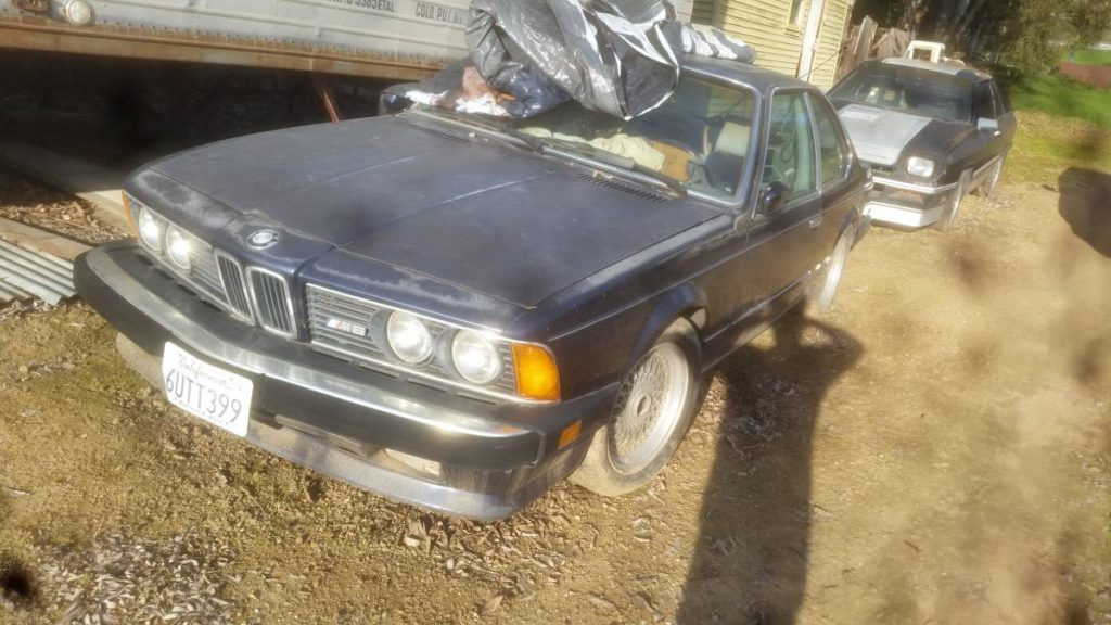 dirtyoldcars.com  `1987 BMW M6 blue gilroy project  3