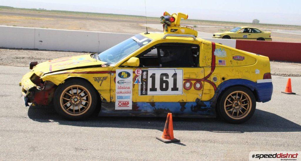 dirtyoldcars.com  1989 Honda Civic CRX SI Yellow Submarine Race Car Lemons Champ  9