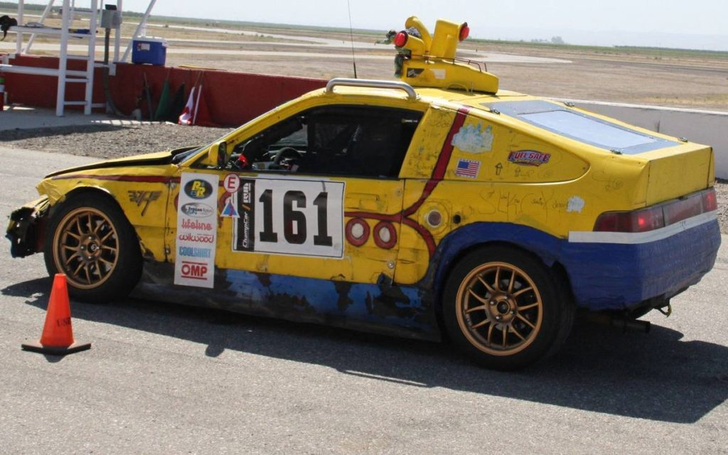 dirtyoldcars.com  1989 Honda Civic CRX SI Yellow Submarine Race Car Lemons Champ  8