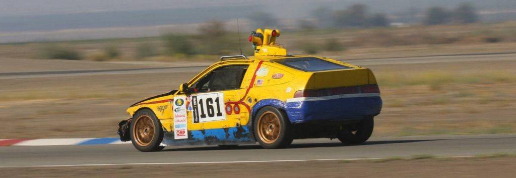 dirtyoldcars.com  1989 Honda Civic CRX SI Yellow Submarine Race Car Lemons Champ  7