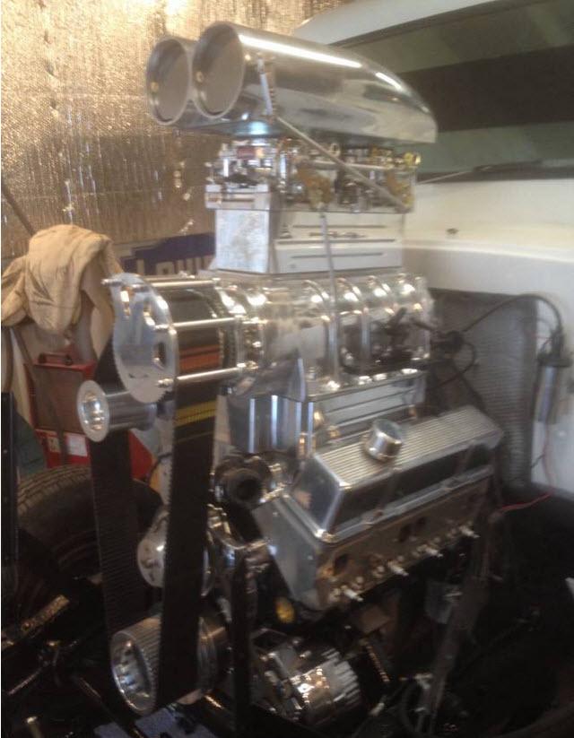 dirtyoldcars.com   Mail Truck Hot rod Blower motor  1