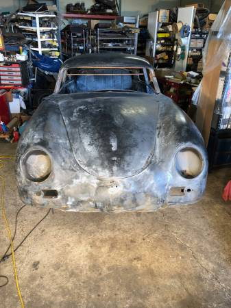 dirtyoldcars.com Porsche 1954 reutter coupe pre-a bent window coupe  1