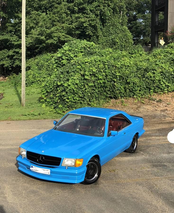 dirtyoldcars.com  mercedes 1987 560SEC  blue drug dealer mafia  car atlanta Georgia  9