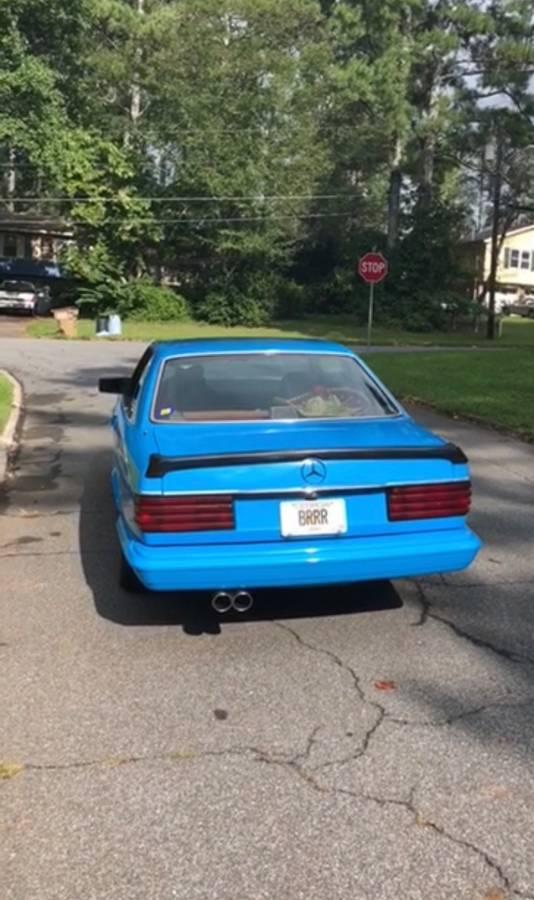 dirtyoldcars.com  mercedes 1987 560SEC  blue drug dealer mafia  car atlanta Georgia  7