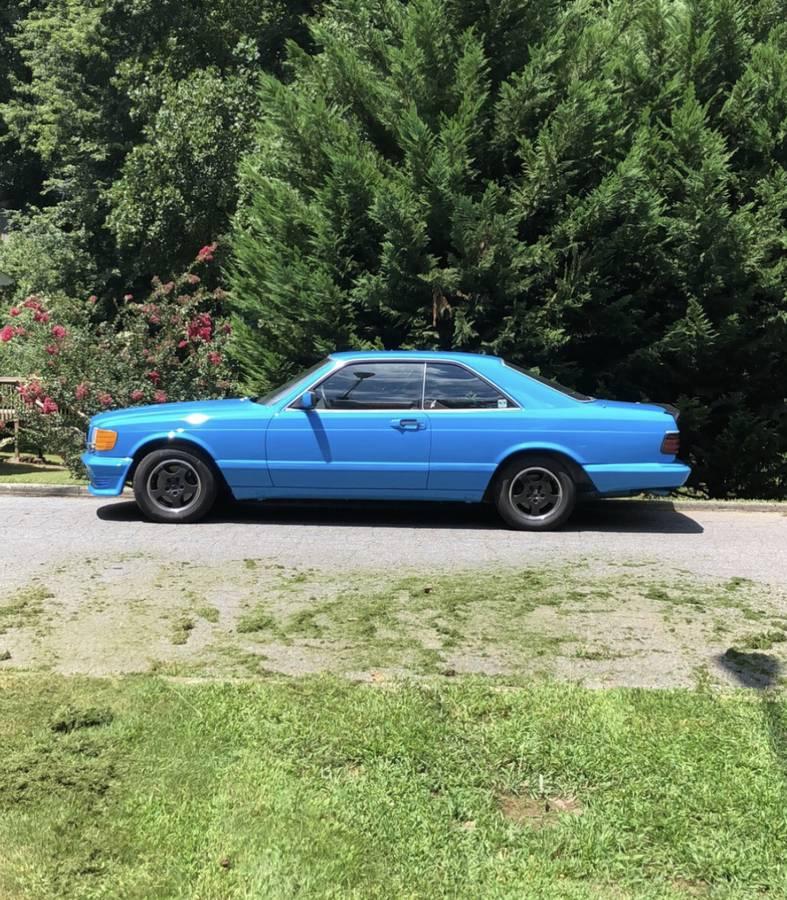 dirtyoldcars.com  mercedes 1987 560SEC  blue drug dealer mafia  car atlanta Georgia  6