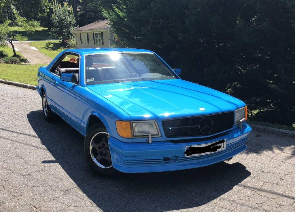dirtyoldcars.com  mercedes 1987 560SEC  blue drug dealer mafia  car atlanta Georgia  5