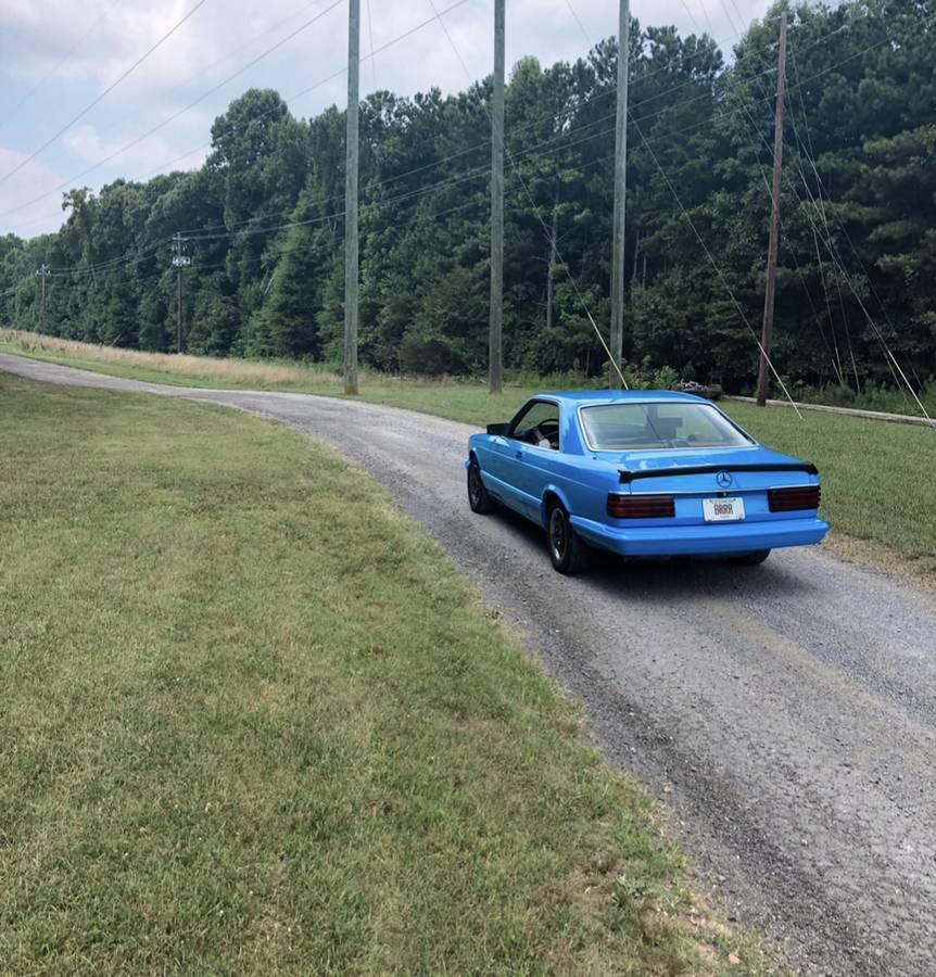 dirtyoldcars.com  mercedes 1987 560SEC  blue drug dealer mafia  car atlanta Georgia  3