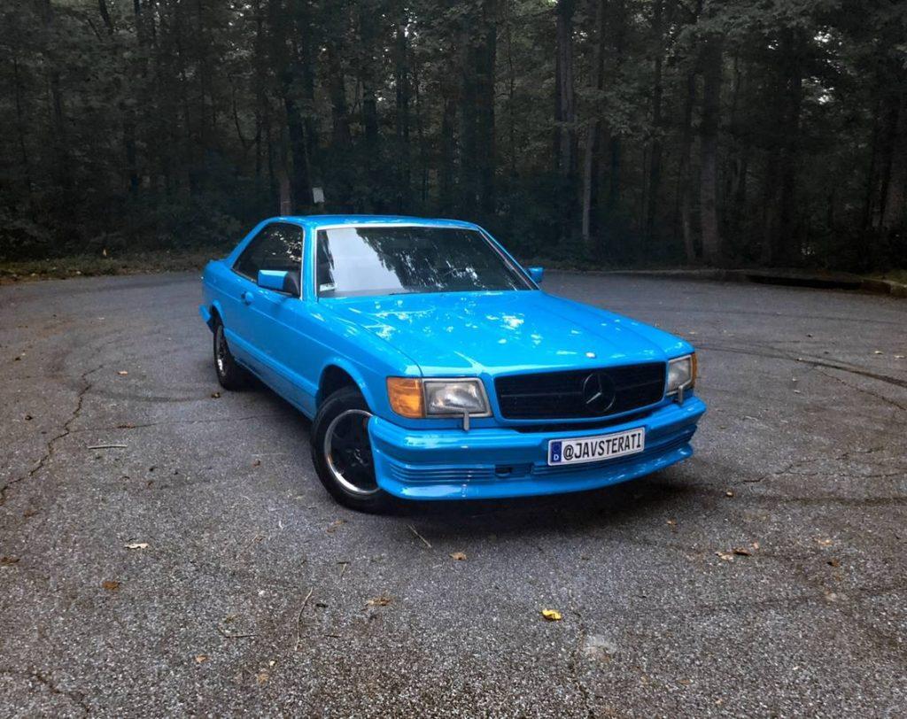 dirtyoldcars.com  mercedes 1987 560SEC  blue drug dealer mafia  car atlanta Georgia  1