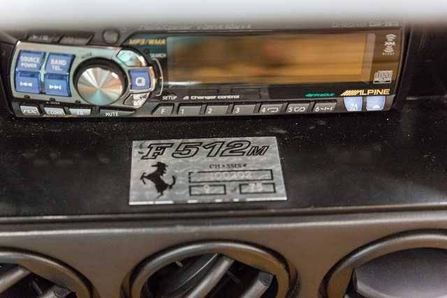 dirtyoldcars.com   1995 ferrari 512M black  tan  39k miles   7