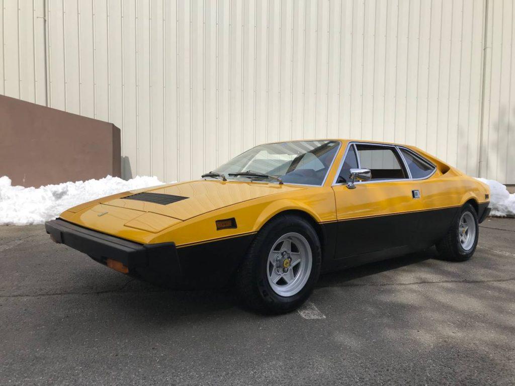 dirtyoldcars.com  1975 ferrari 308 gt4  yellow boxer scheme  47k   52k miles  Connecticut  6