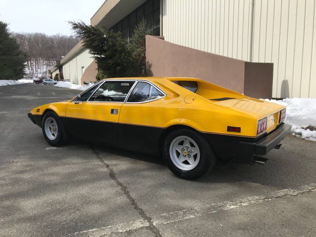 dirtyoldcars.com  1975 ferrari 308 gt4  yellow boxer scheme  47k   52k miles  Connecticut  5