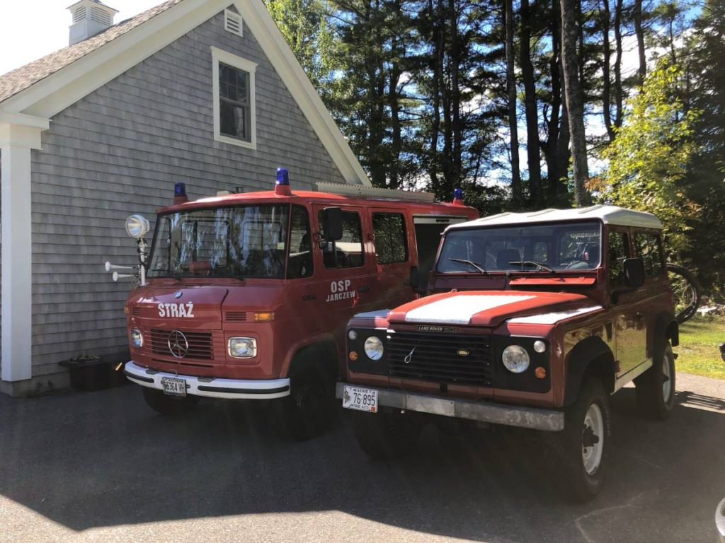 dirtyoldcars.com  Mercedes 608D Polish Fire Truck Sprinter Maine 2